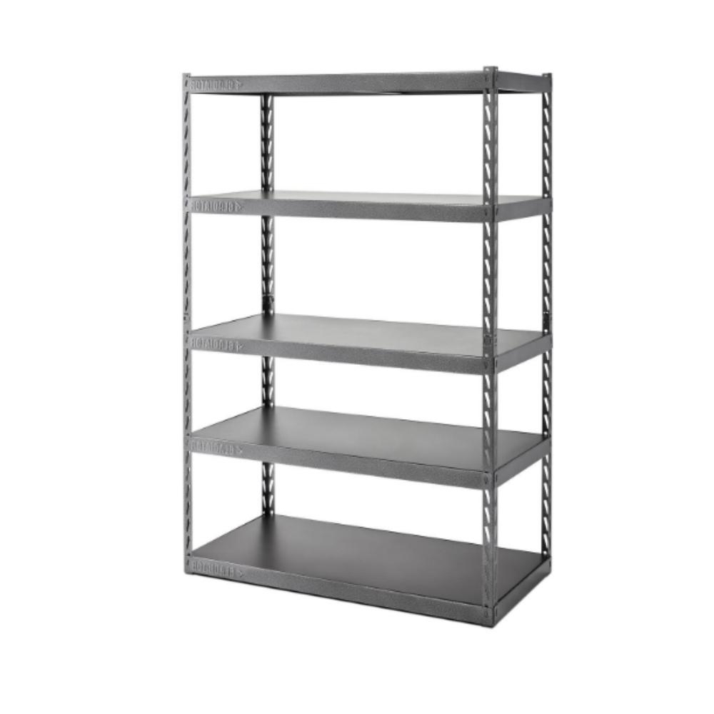 Gladiator 72 In. H X 48 In. W X 18 In. D 5 Shelf Steel Garage Regarding Most Popular Cheap Shelving Units (Gallery 4 of 15)