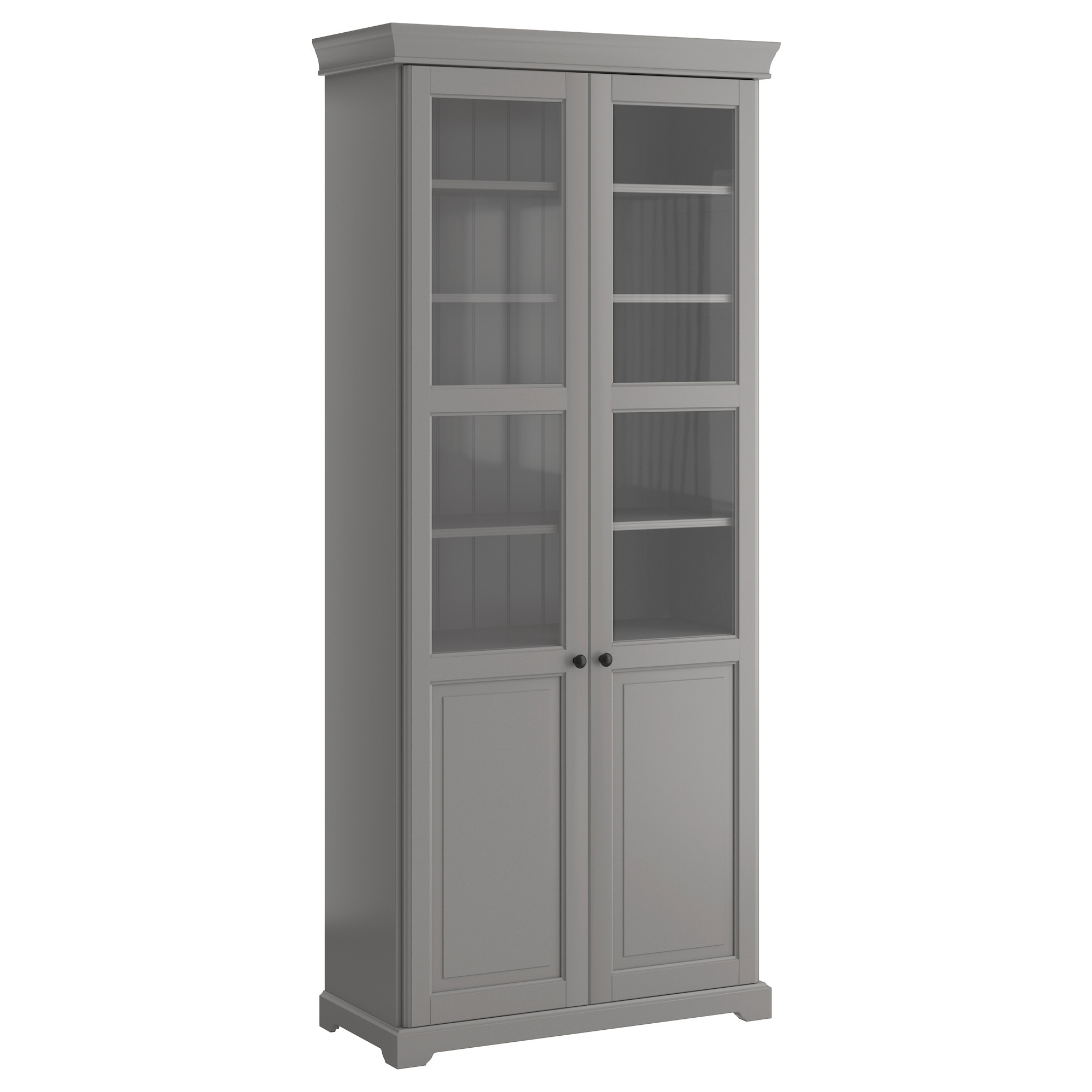 Glass Bookcases Inside Widely Used Liatorp Bookcase With Glass Doors – Gray – Ikea (Gallery 6 of 15)