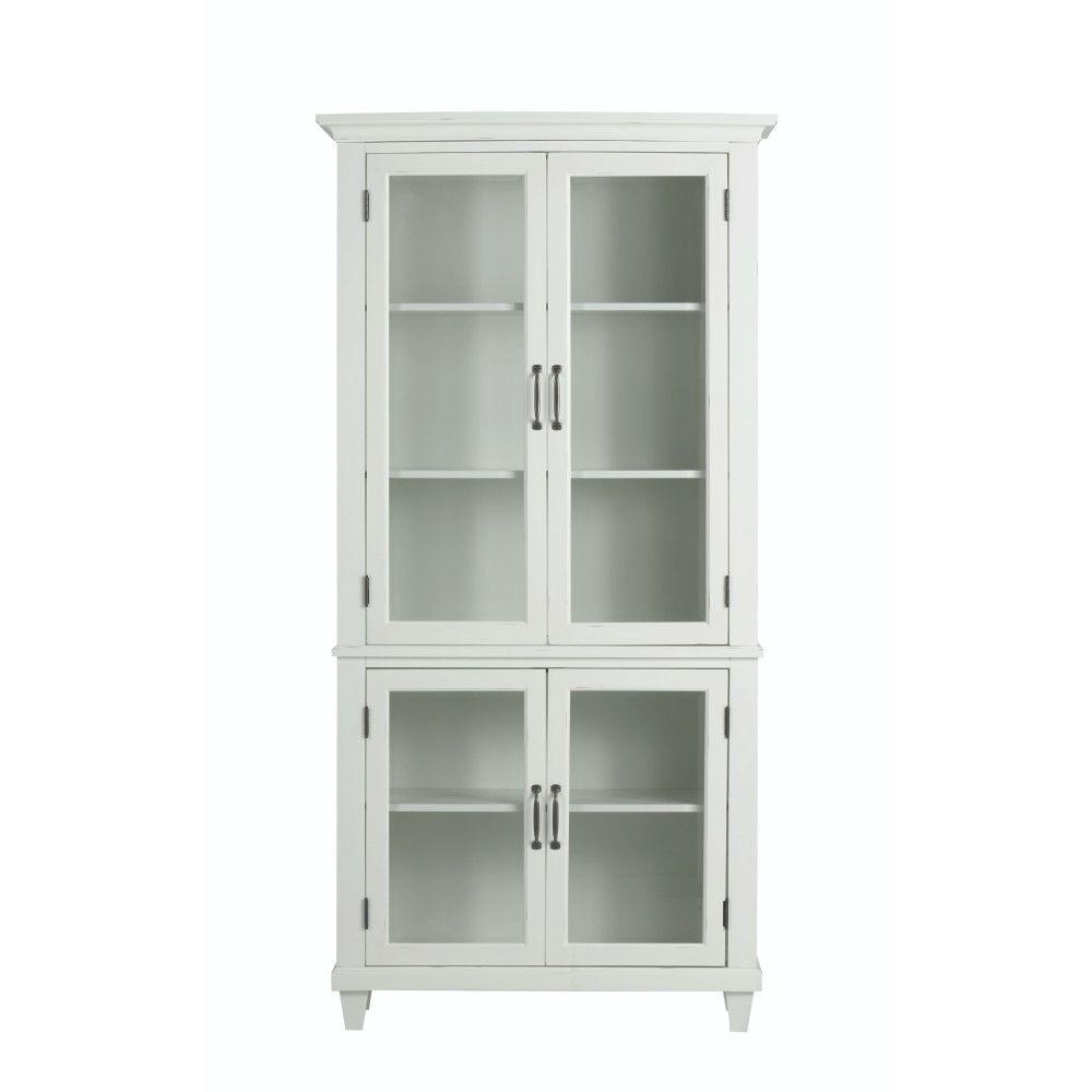 Glass Bookcases Regarding Newest Home Decorators Collection Martin Ivory Glass Door Bookcase (View 4 of 15)
