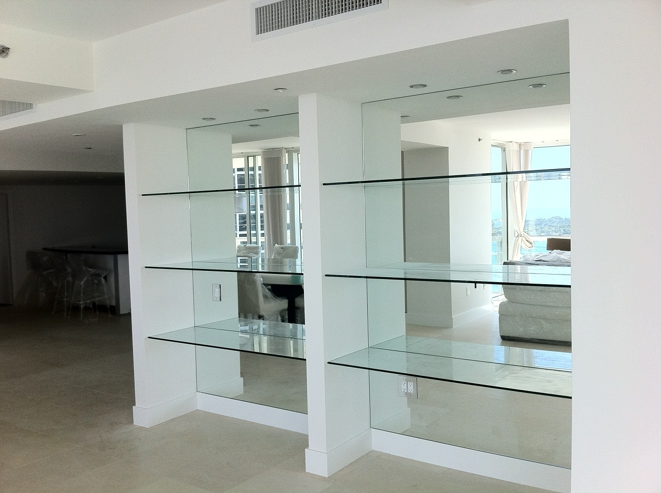 Glass Regarding Newest Mirrored Bookcases (Gallery 8 of 15)