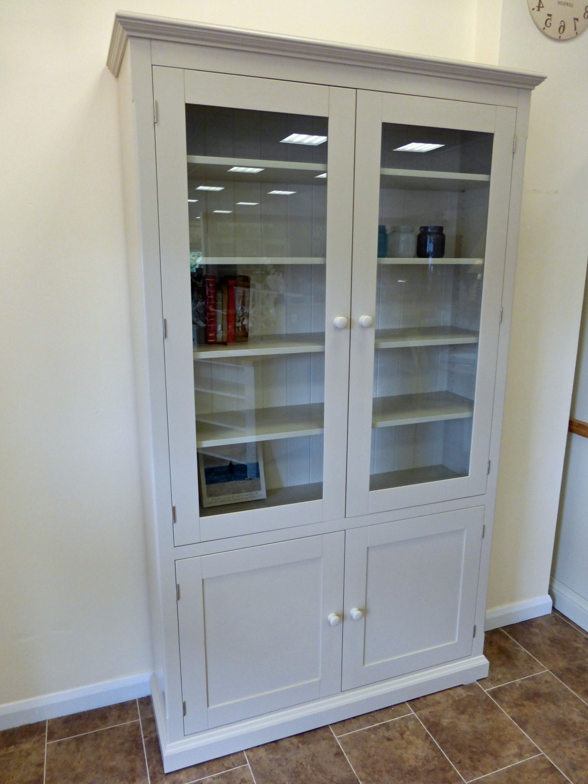 Glazed Bookcases Intended For Trendy Painted Glazed Bookcase Huge Choice Of Sizes Available – Edmunds (View 7 of 15)