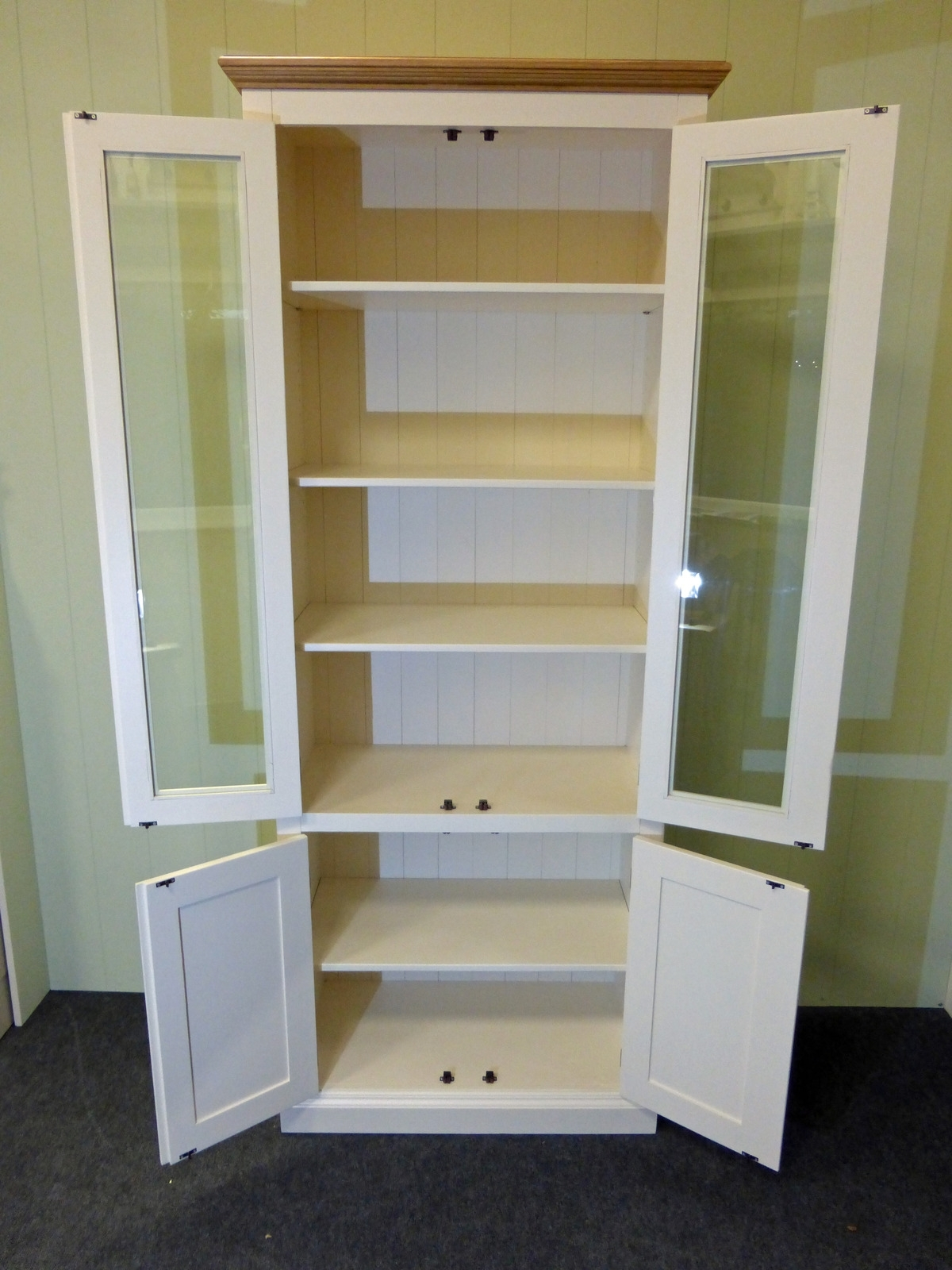 Glazed Bookcases Regarding 2017 Painted Glazed Bookcase Huge Choice Of Sizes Available – Edmunds (Gallery 9 of 15)