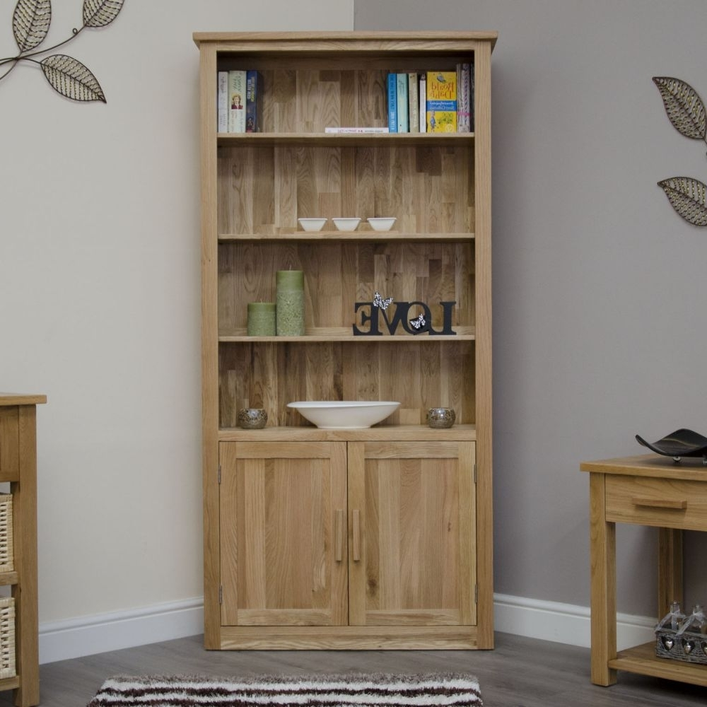 Gorgeous Oak Bookcase And Organizer — Montserrat Home Design Regarding Well Known Bookcases With Cupboard Under (View 13 of 15)