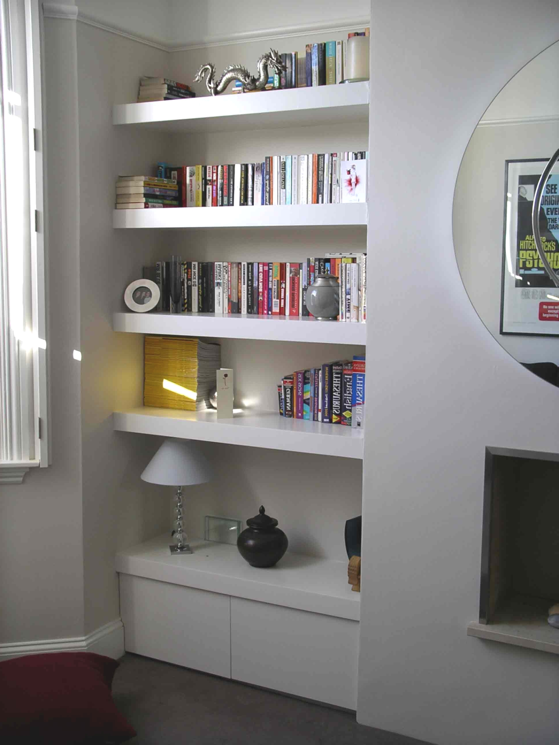 Gorgeous Shelving Furniture Fitted Shelving Fitted Alcove Floating Inside Favorite Fitted Shelves (Gallery 7 of 15)
