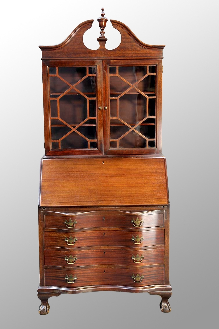Governor Winthrop Style Desks Were Ver Desired. Styles Included For Most Popular Antique Secretary Desk With Bookcases (Gallery 7 of 15)