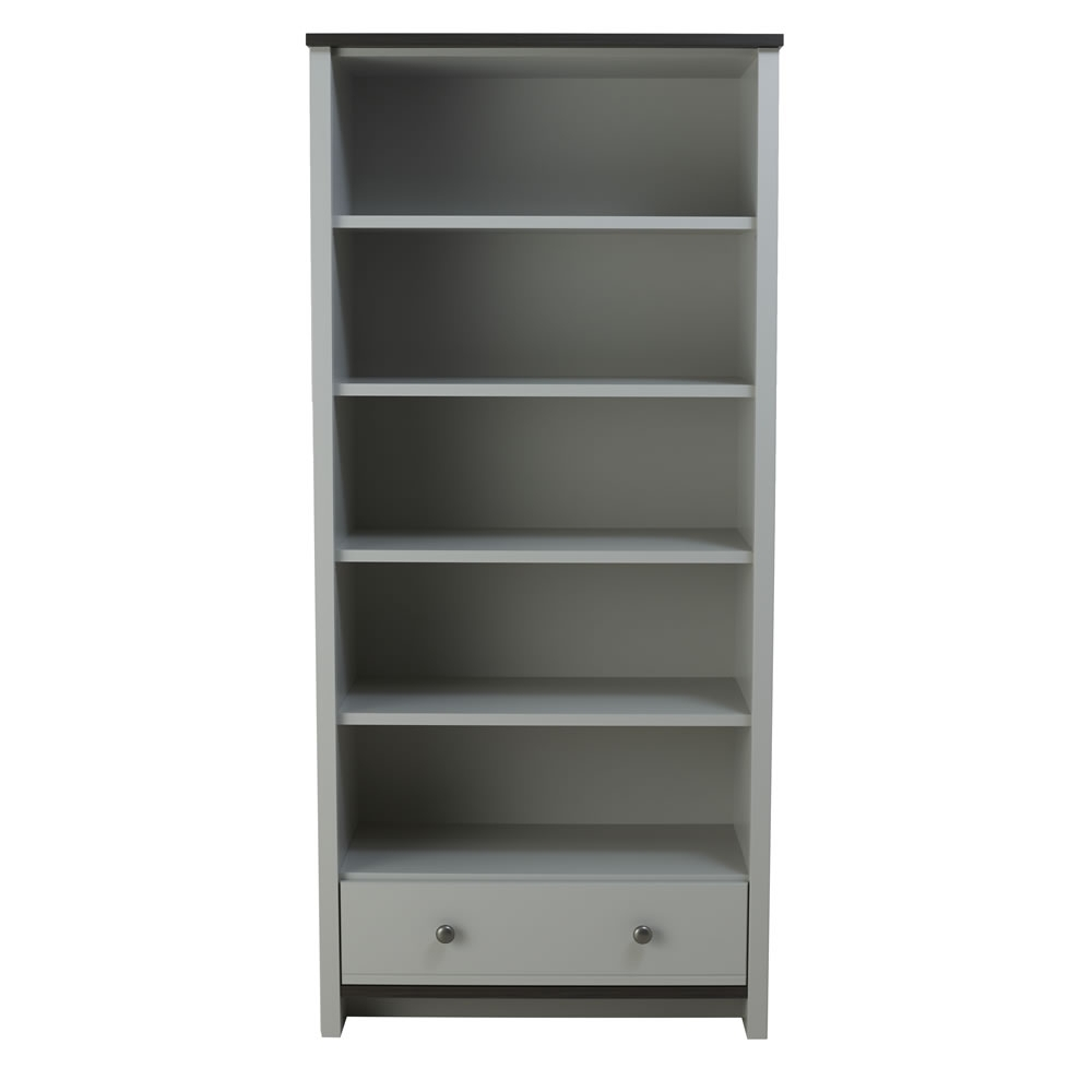 Grey Bookcases Regarding Well Known Clovelly Large Bookcase Grey At Wilko (Gallery 2 of 15)