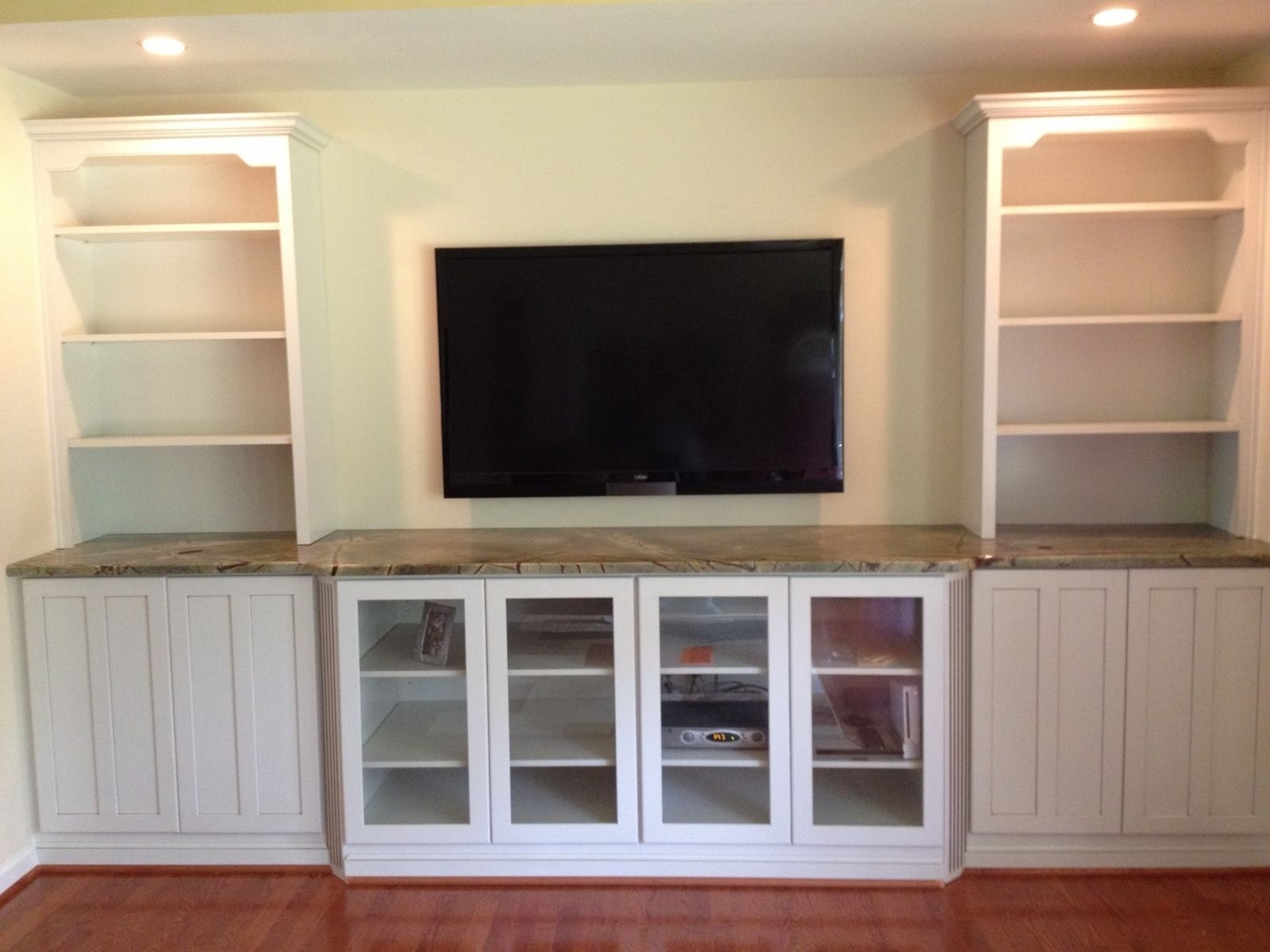 Hand Crafted Built In Tv Wall Unitnatural Woodworks Pertaining To Famous Built In Tv Bookcases (View 10 of 15)