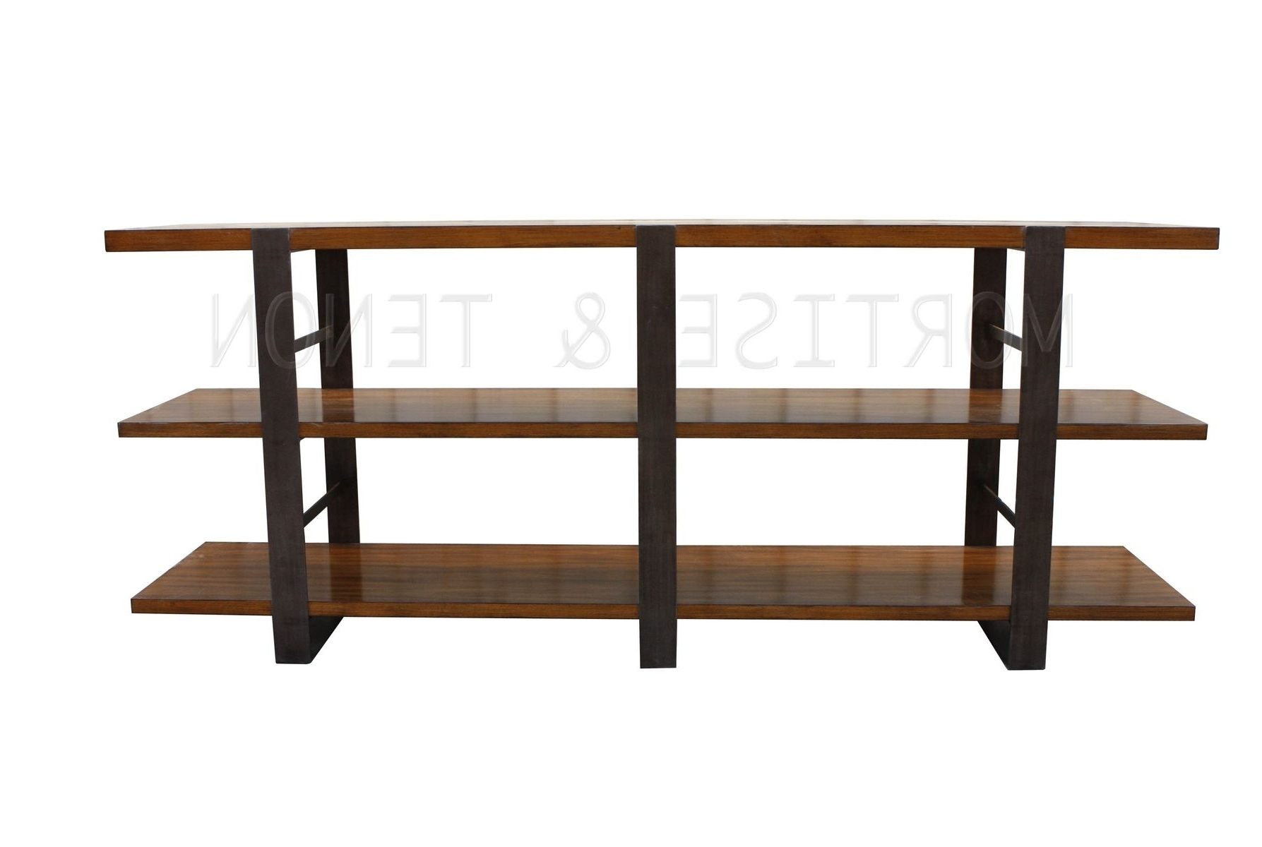 Hand Crafted Reclaimed Wood & Metal Bookcasemortise & Tenon Regarding Most Recent Reclaimed Wood Bookcases (View 9 of 15)