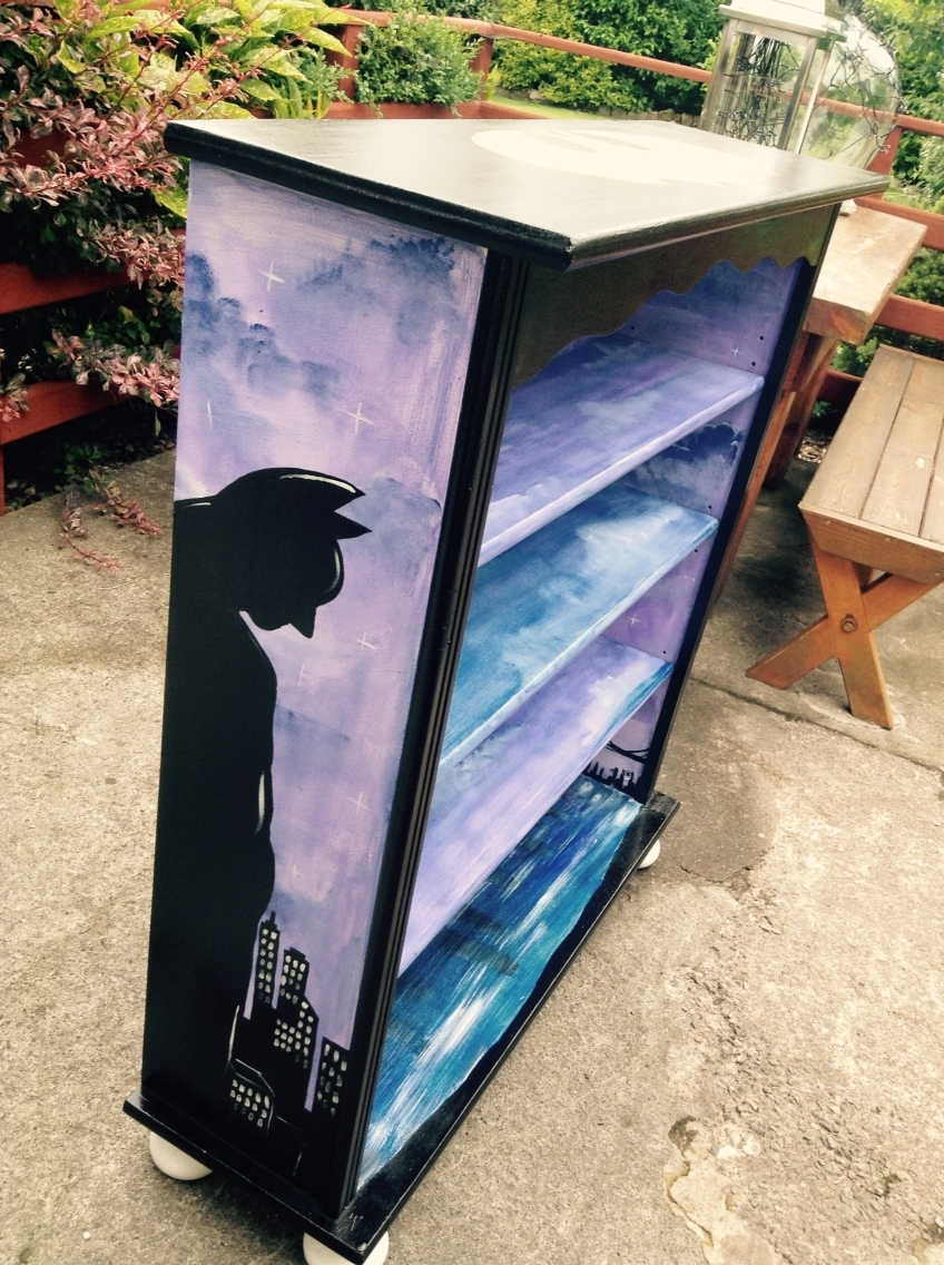 Hand Painted Batman Book Shelf (View 12 of 15)