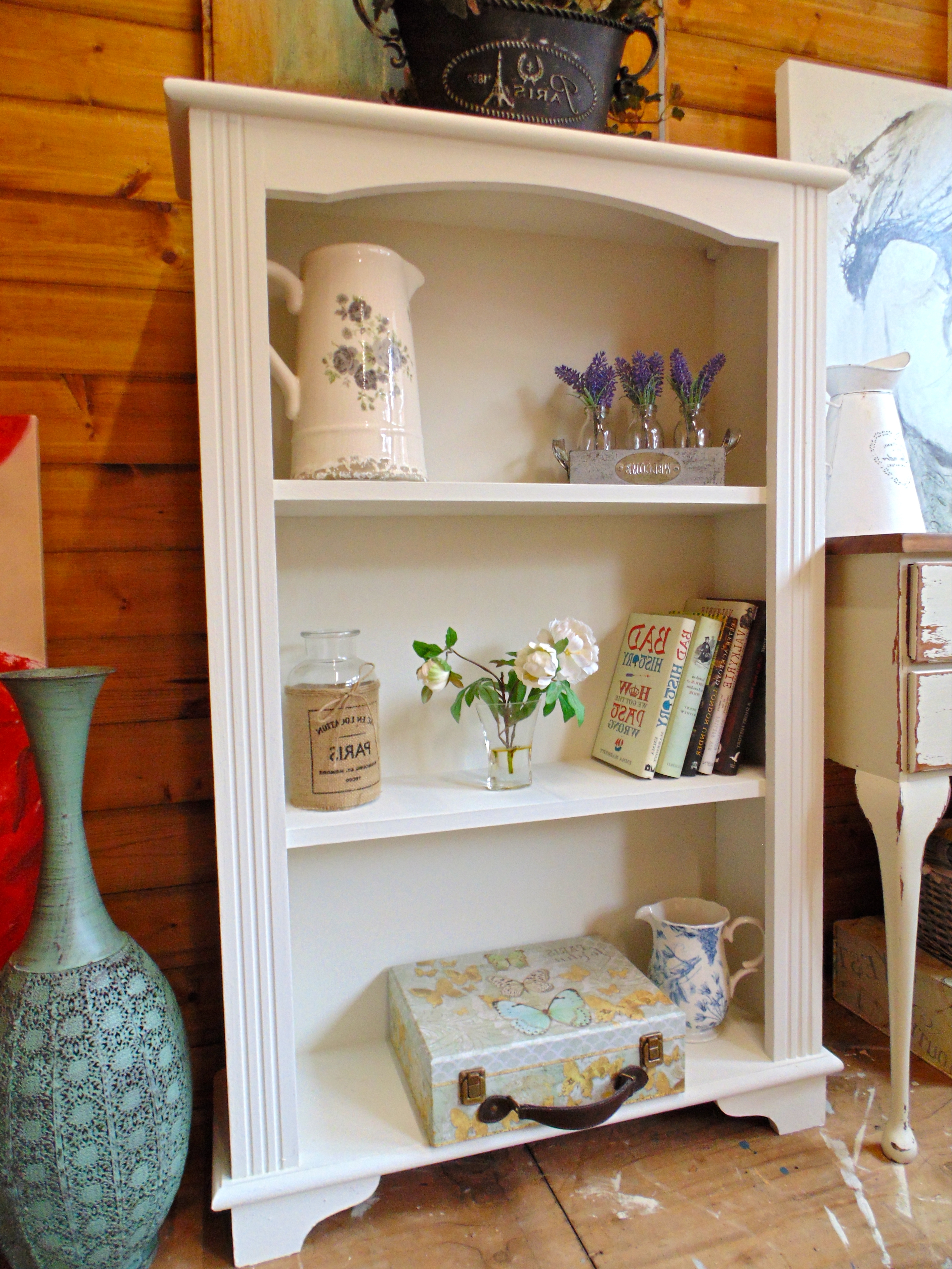 Hand Painted Bookcases Throughout 2018 Lovely Pine Small Bookcase Hand Painted In Annie Sloan Old White (View 7 of 15)