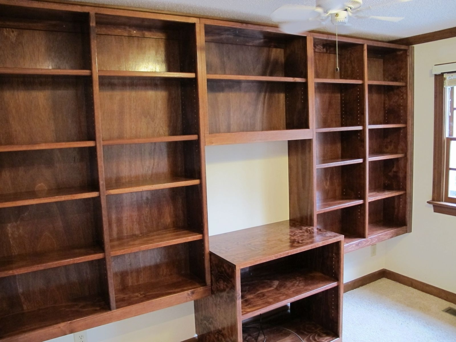 Handmade Bookcases Throughout Latest Handmade Built In Bookshelvescarolina Woodworking (View 7 of 15)