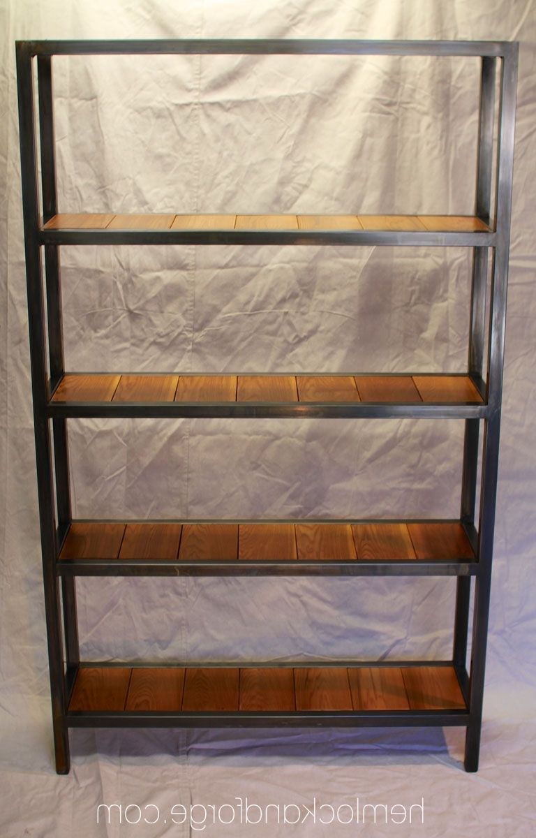 Handmade Industrial Style Bookshelf (View 14 of 15)