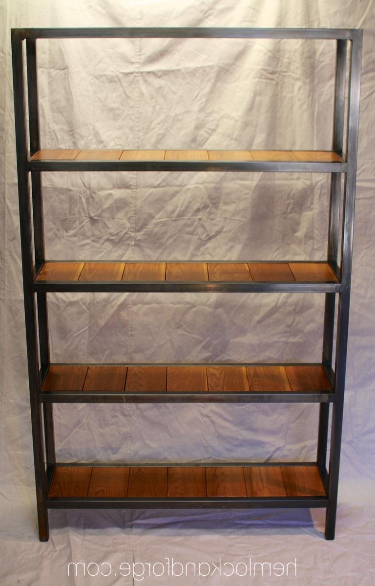 Handmade Industrial Style Bookshelf (View 4 of 15)