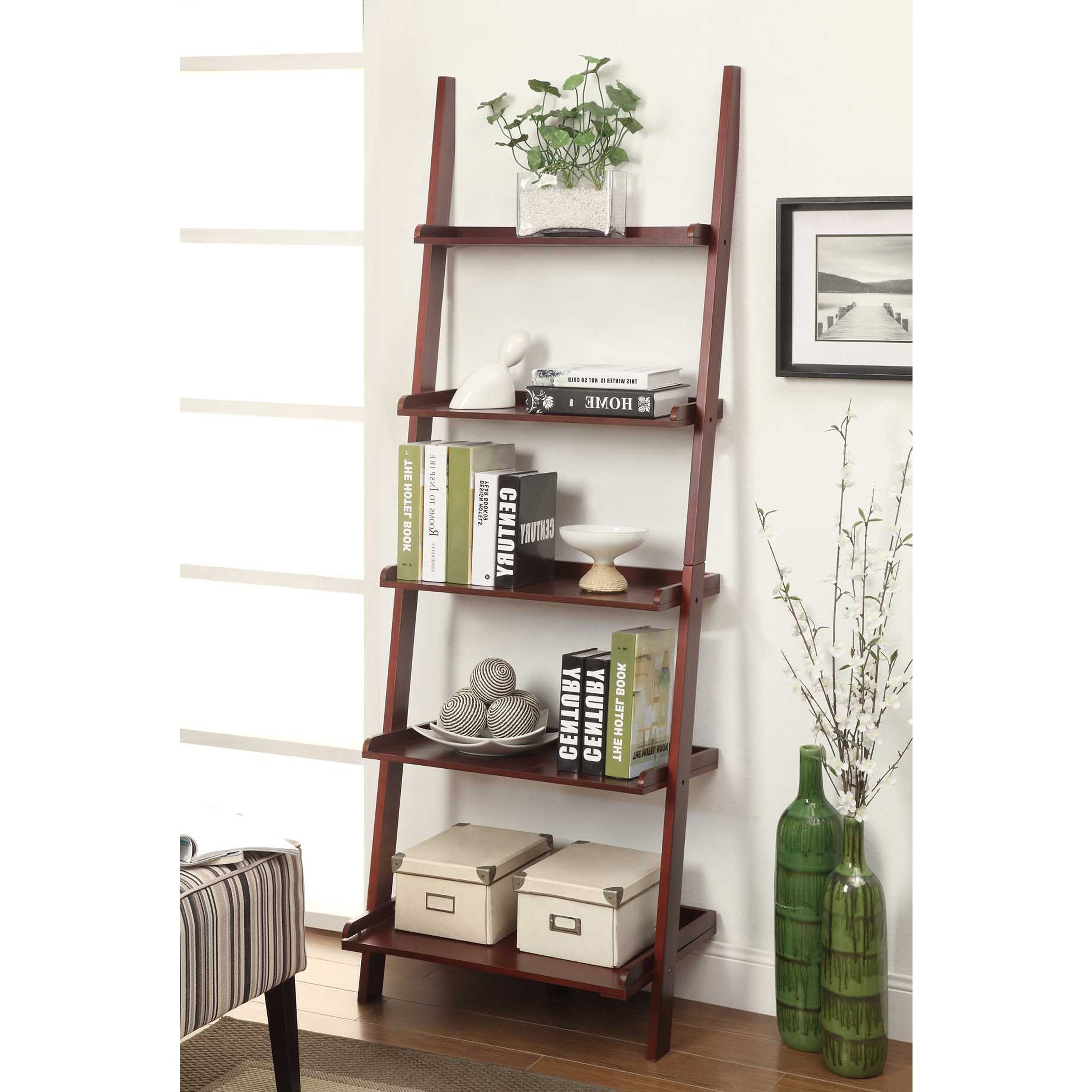 Hayneedle In Leaning Shelf Bookcases (View 2 of 15)