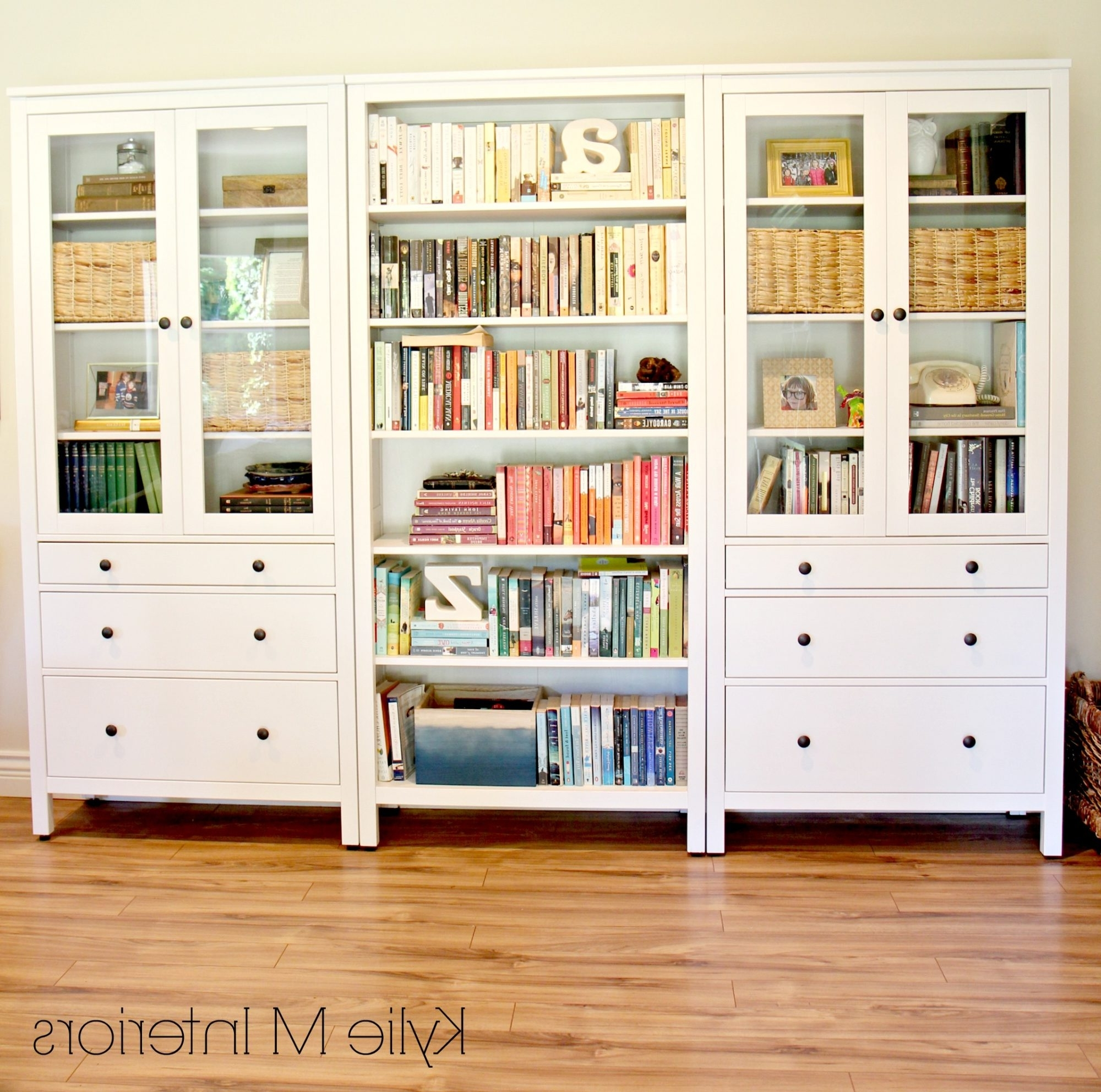 Hemnes Bookcases For Popular Decor Ideas For A Long Or Large Wall Using Ikea Hemnes Bookcases (View 10 of 15)