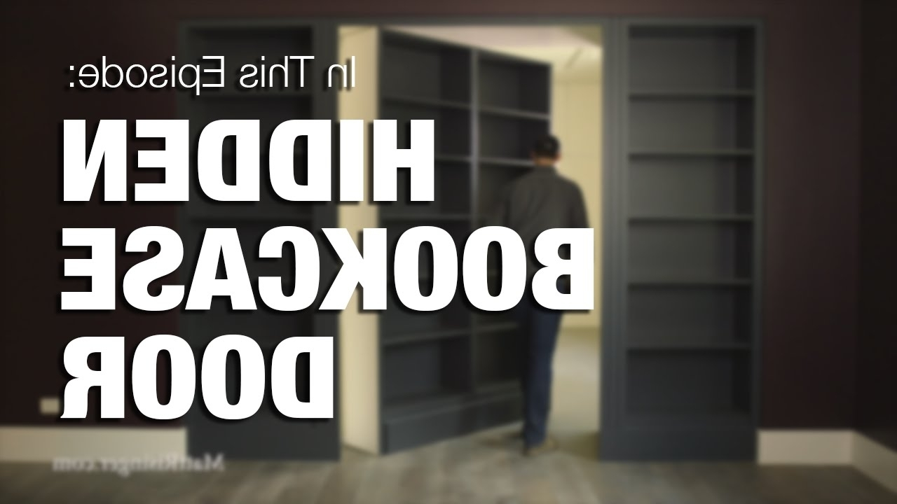 Hidden Bookcase Door – Youtube For Famous Door Bookcases (View 7 of 15)