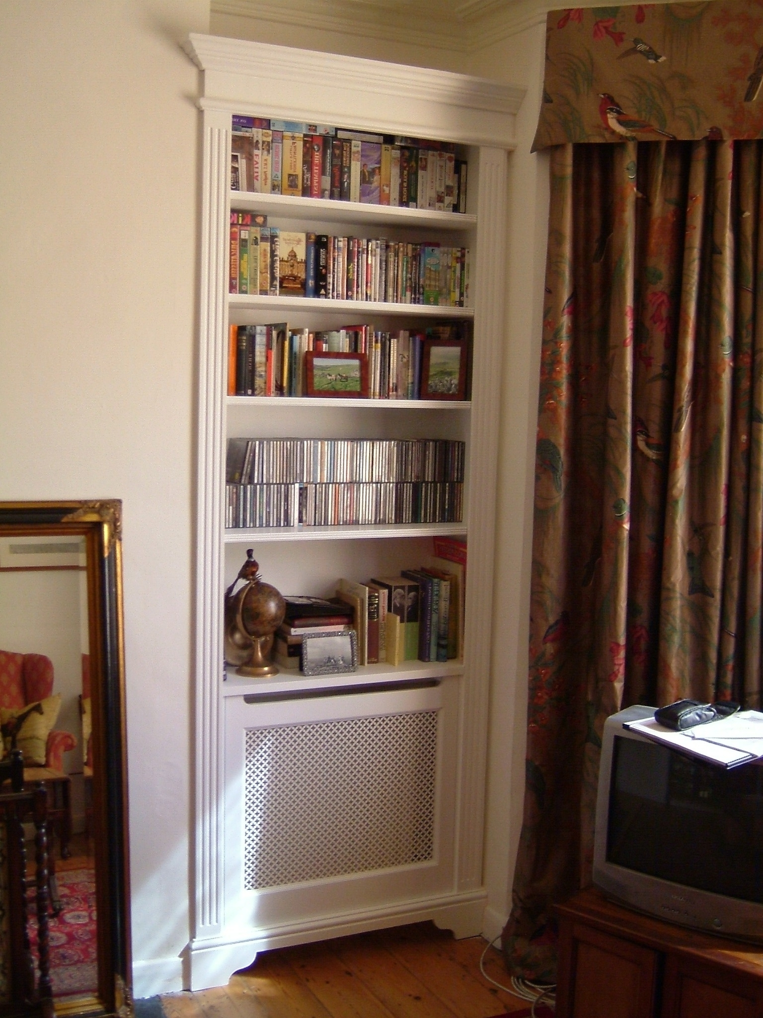 Hidden Radiator With Bookcase Above (View 3 of 15)