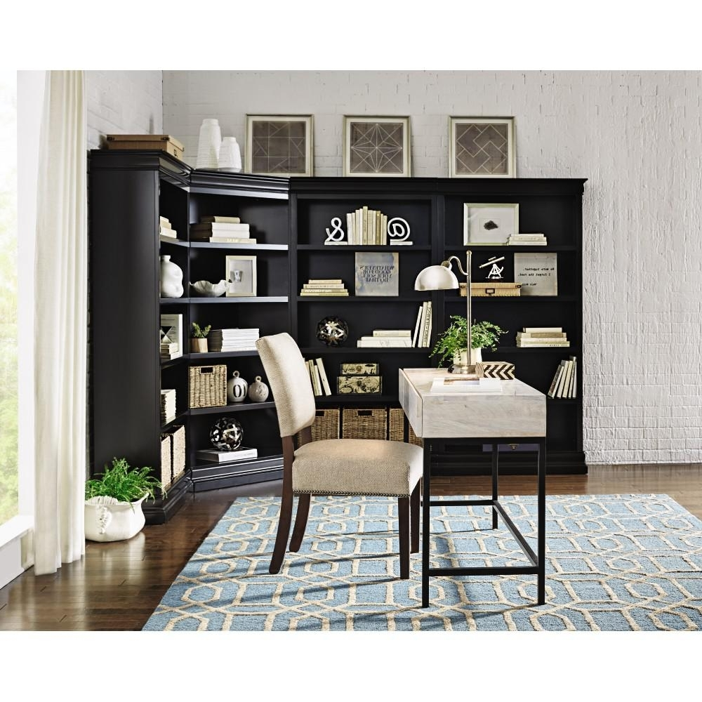 Home Decorators Collection Louis Philippe Modular Black Corner Pertaining To Trendy Black Corner Bookcases (View 11 of 15)