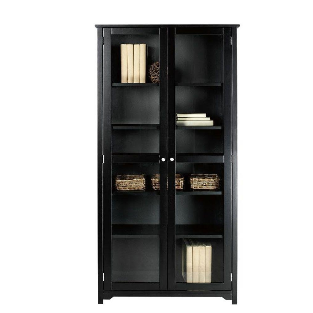 Featured Photo of Black Bookcases With Glass Doors