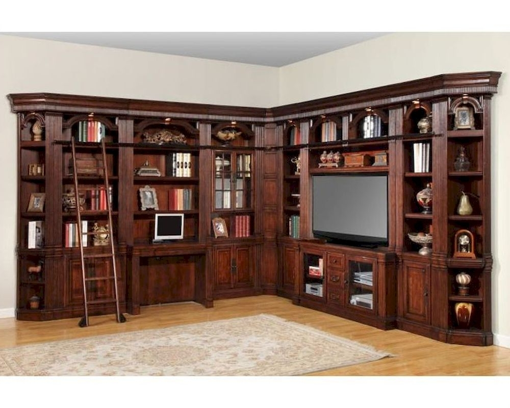Featured Photo of Home Library Wall Units
