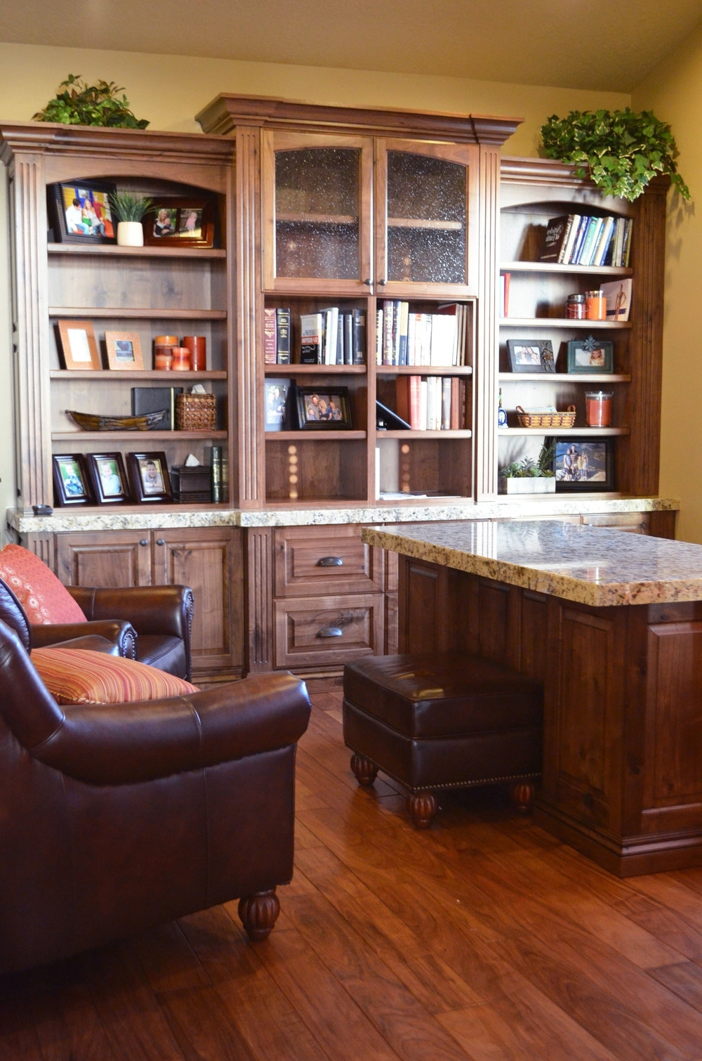 Home Office + Bookcases — Lewis Custom Woodwork Llc (View 2 of 15)