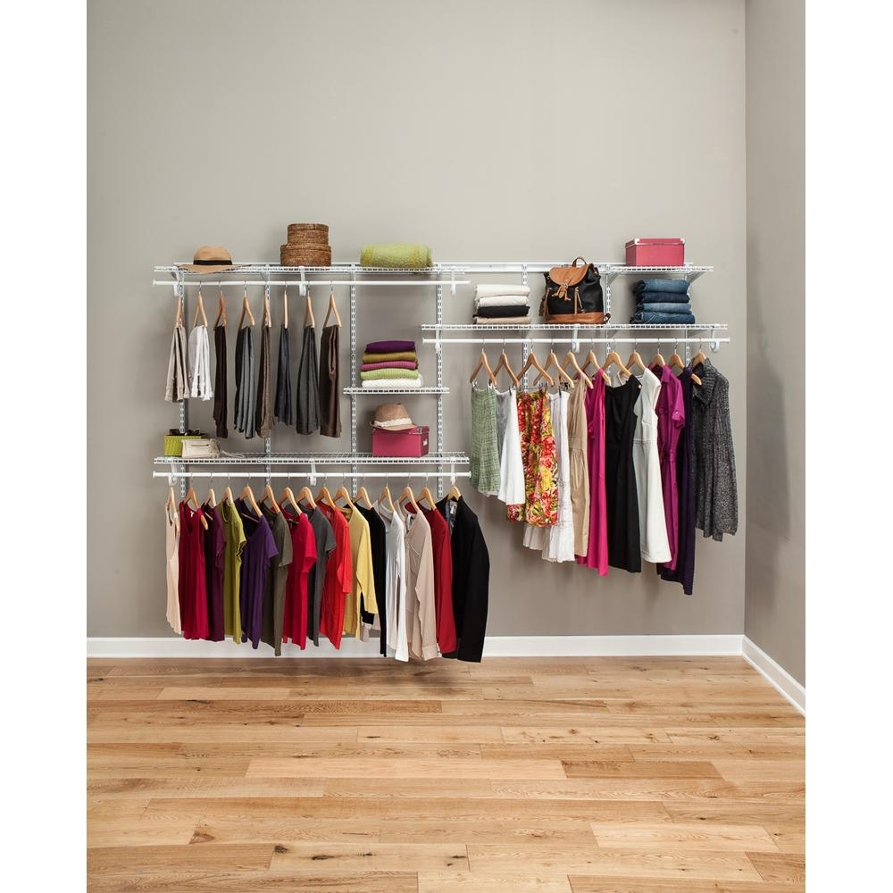 Home Shelving Systems Within Trendy Wire Closet Systems – Wire Closet Organizers – The Home Depot (View 12 of 15)