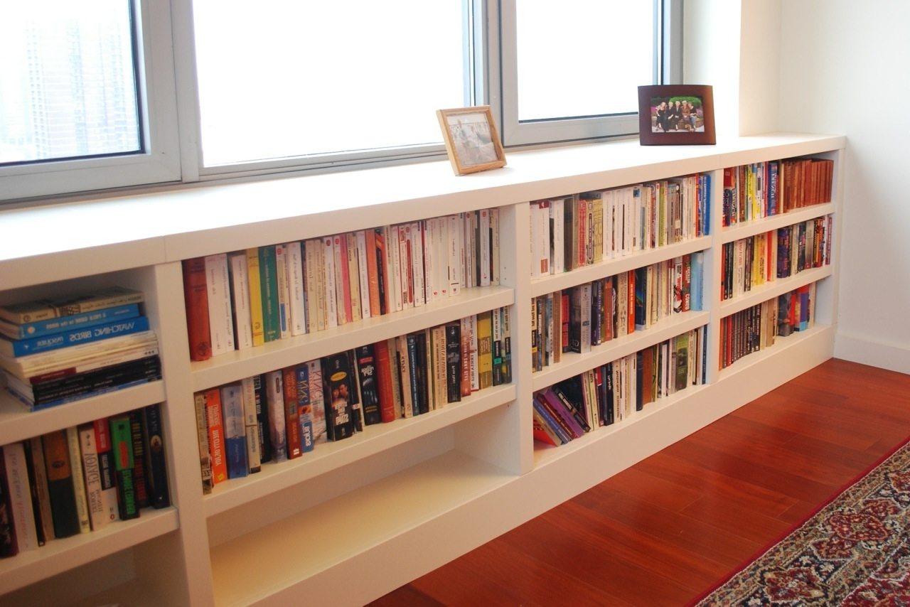 interior low bench bookcase under awesome doubtful window home