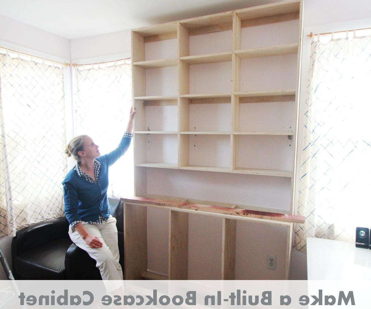 How To Make Built In Bookcases: 8 Steps (with Pictures) Inside Most Up To Date Bookcases With Cupboard Base (View 4 of 15)