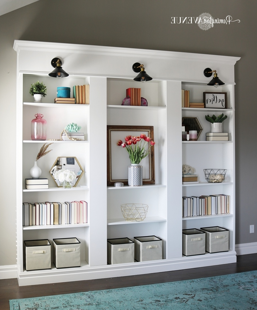 Ikea Billy Bookcase Library Hack – Remington Avenue Throughout Trendy Library Wall Bookshelves (Gallery 6 of 15)