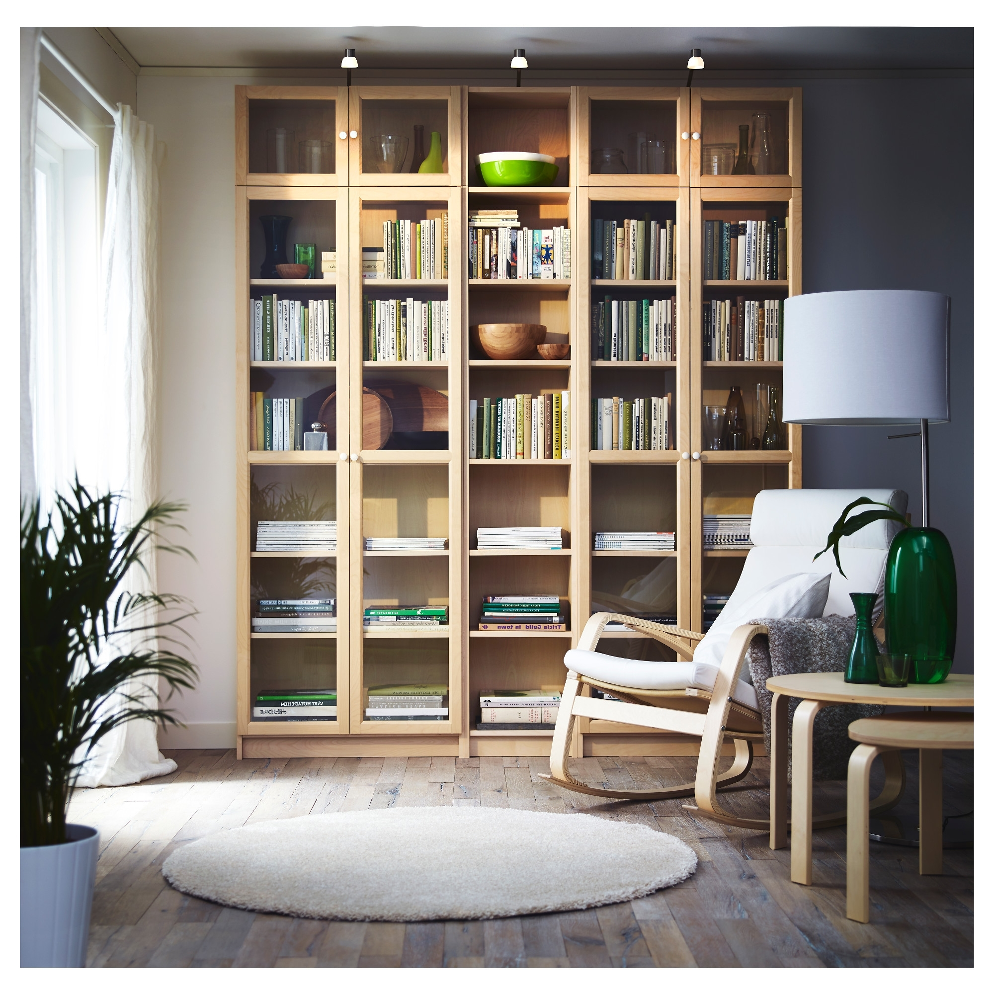 Ikea Billy Bookcases Intended For Trendy Billy / Oxberg Bookcase – Birch Veneer – Ikea (Gallery 11 of 15)