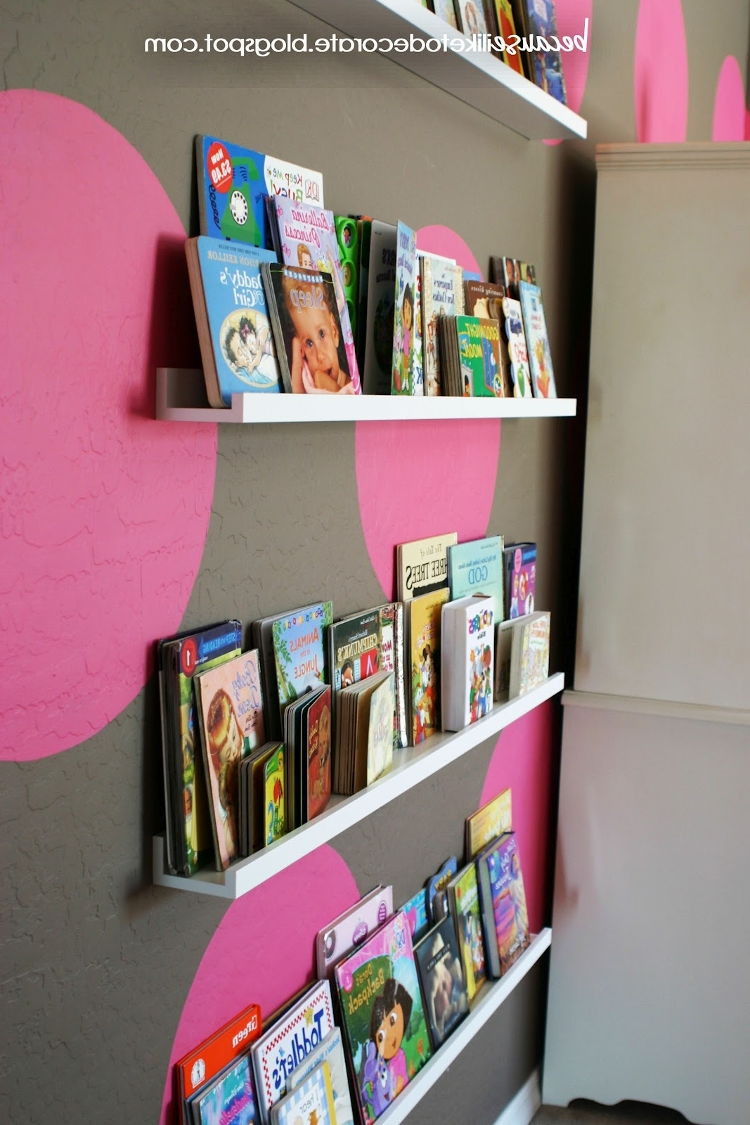 Ikea Picture Frame Ledges The Girls' Room Progress 1.4 – Toddler Regarding Preferred Toddler Bookcases (Gallery 7 of 15)