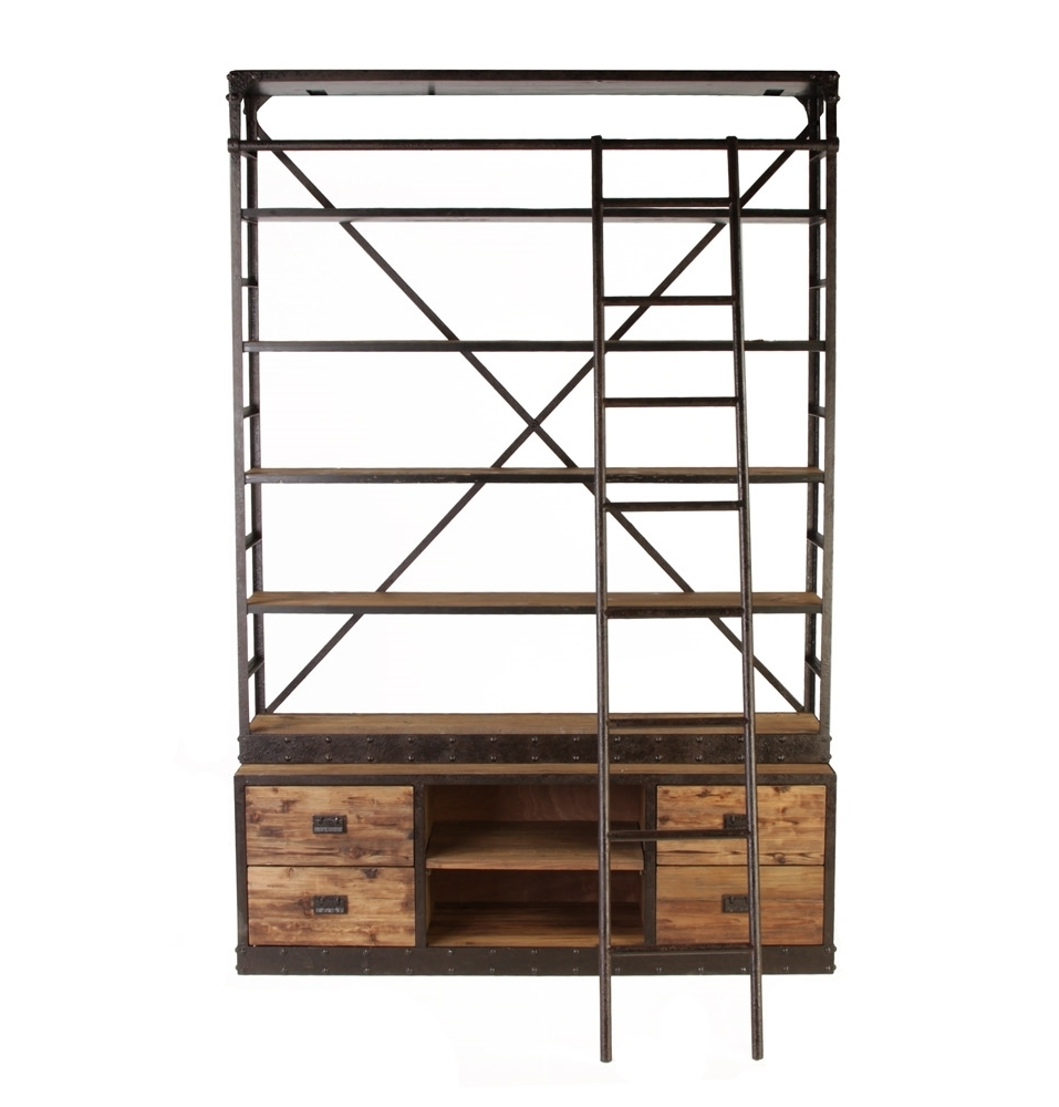 Industrial Style Bookcases With Regard To Current Furniture Home: Amazing Industrial Style Bookcase Picture Concept (Gallery 13 of 15)