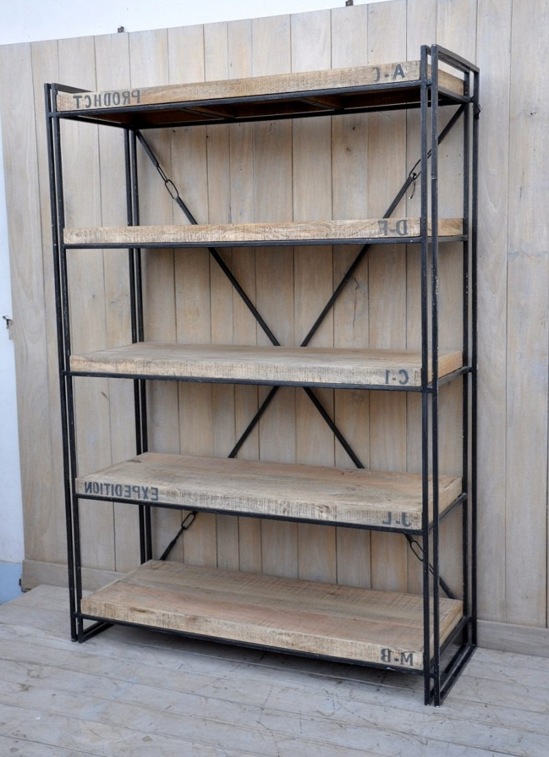Industrial Style Bookcases With Regard To Favorite Furniture Home: Amazing Industrial Style Bookcase Picture Concept (View 11 of 15)