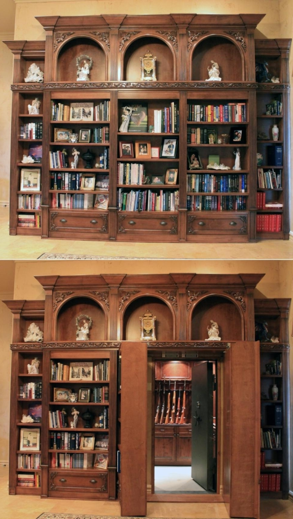 Interior : Classic Open Plan Wall Bookshelves Hidden Door Secret Pertaining To Widely Used Classic Bookshelves (View 9 of 15)