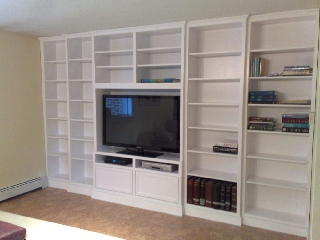 Interior Decoration Within Full Wall Shelving Units (Gallery 4 of 15)