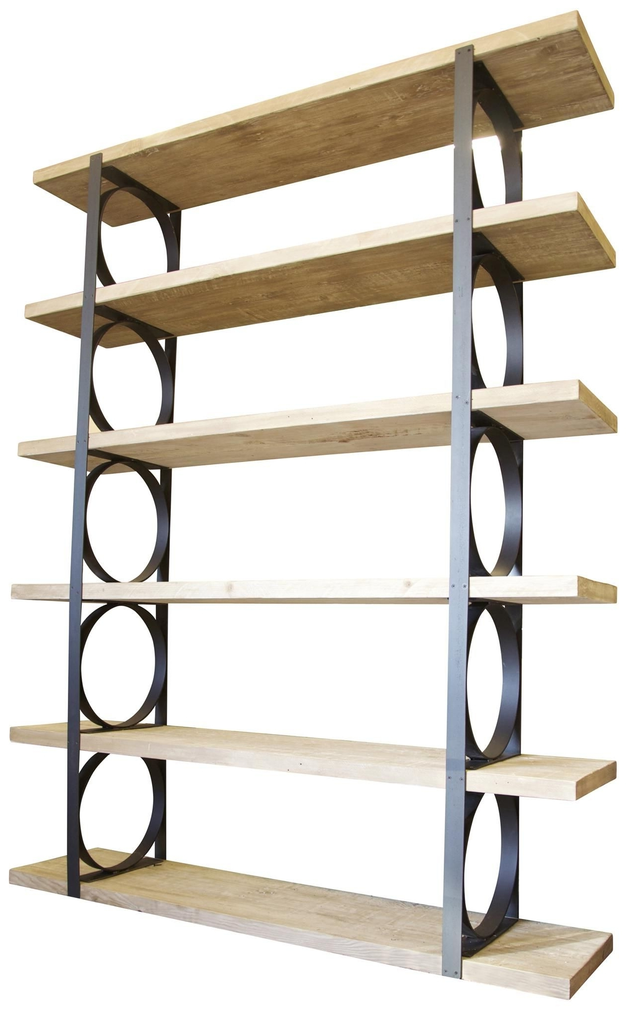Iron And Wood Bookcases Within Preferred Accessories & Furniture,attractive Metal And Wood Bookcase With (Gallery 9 of 15)