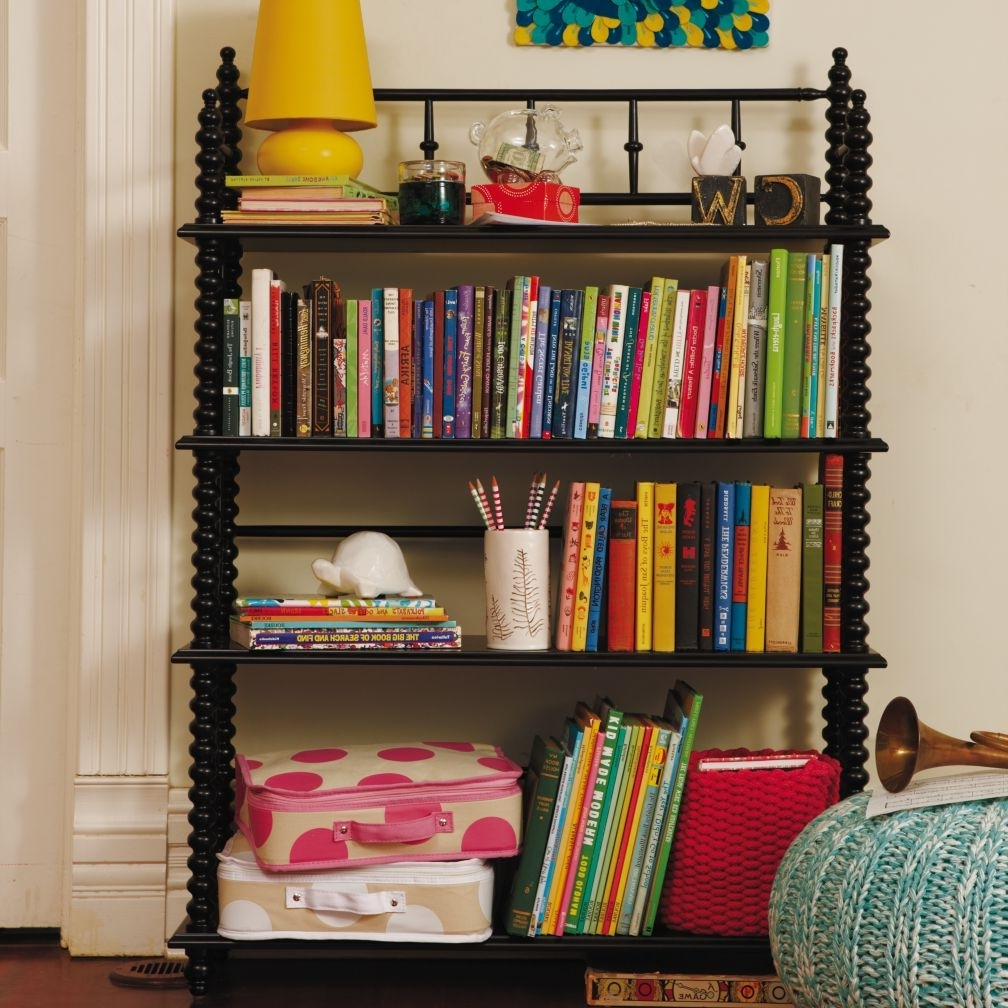 Jenny Lind Bookcase (black) (View 10 of 15)