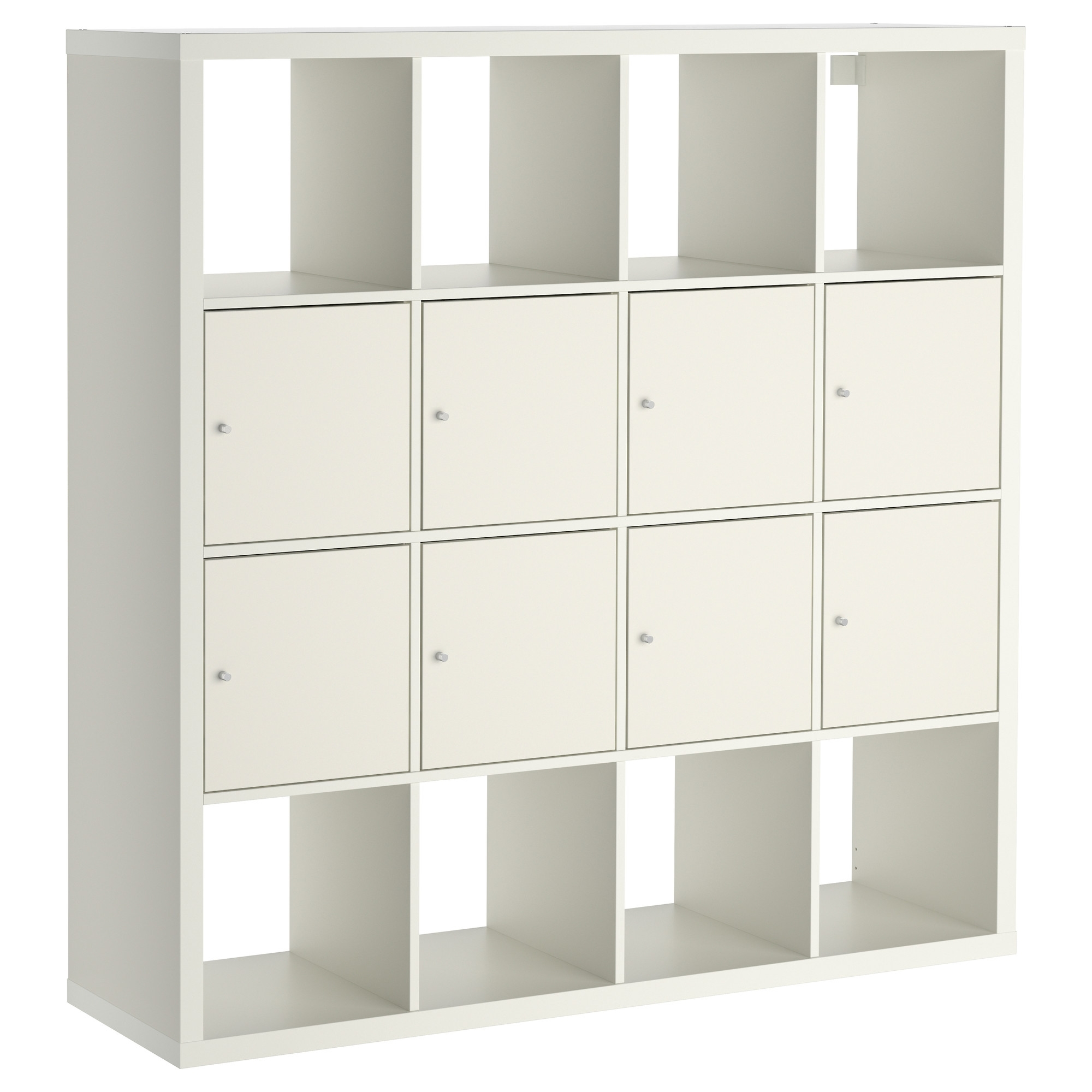 "Kallax Shelf Unit With 8 Inserts – White, 57 7/8x57 7/8 "" – Ikea Intended For Well Known Ikea Kallax Bookcases (View 7 of 15)"
