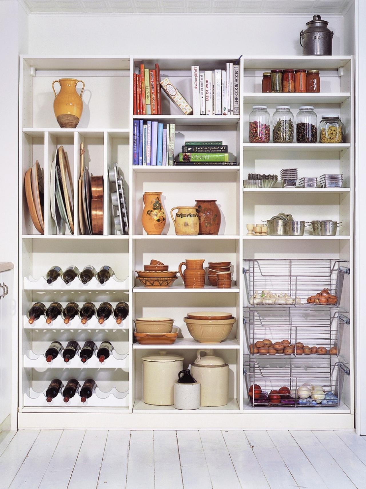 Kitchen : Pantry Shelving Small Pantry Ideas Kitchen Closet For 2017 Large Cupboard With Shelves (View 1 of 15)