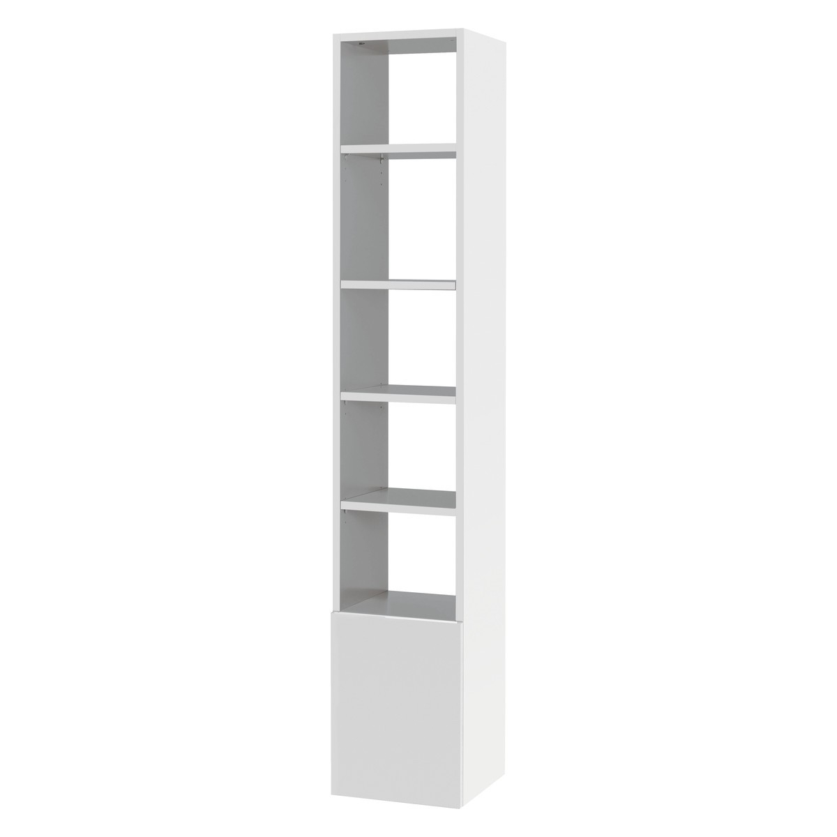 Kubrik White High Gloss Tall Shelving Unit (View 4 of 15)