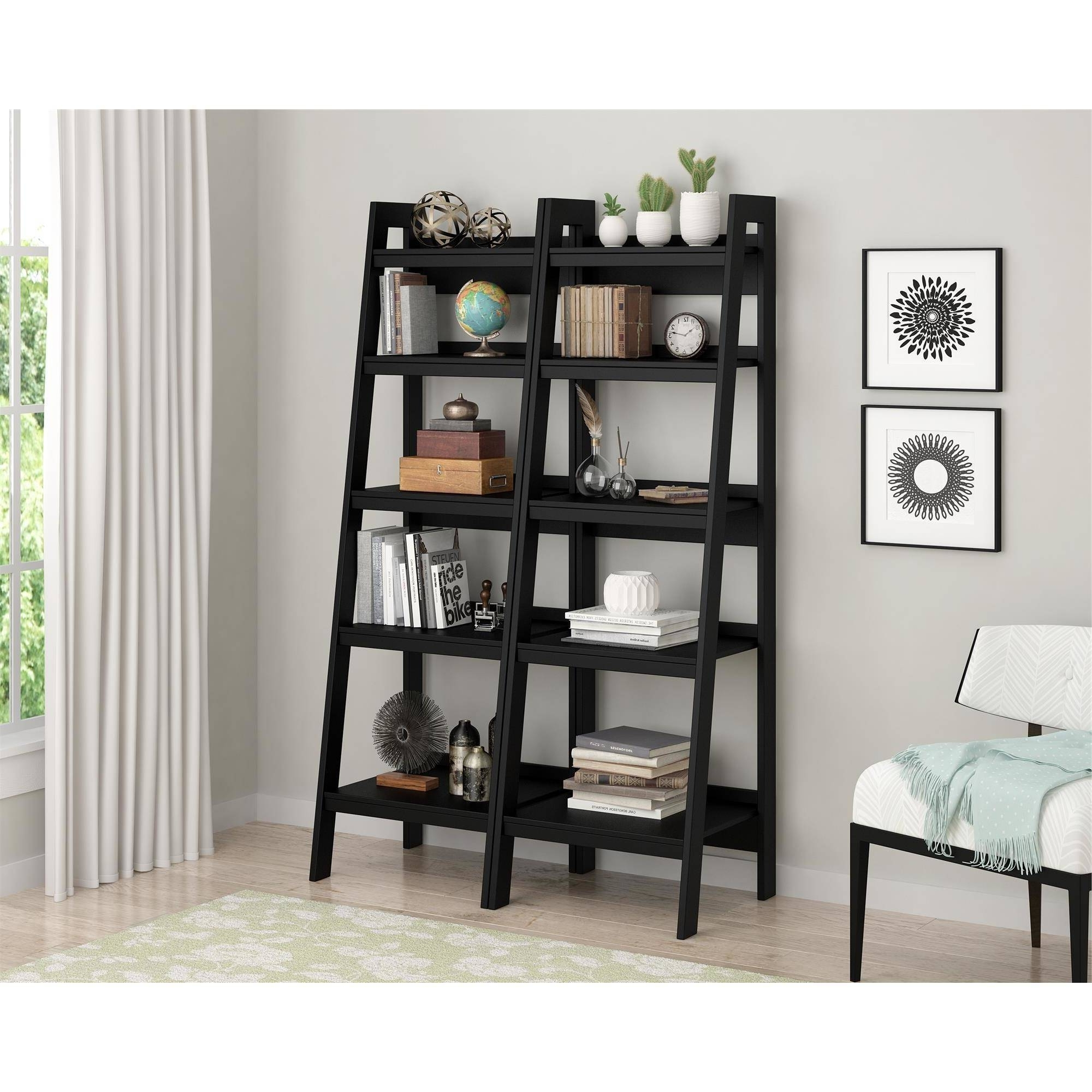 Ladder Bookcases With Drawers Regarding Well Liked Ladder Bookshelf With Drawers • Drawer Ideas (View 7 of 15)