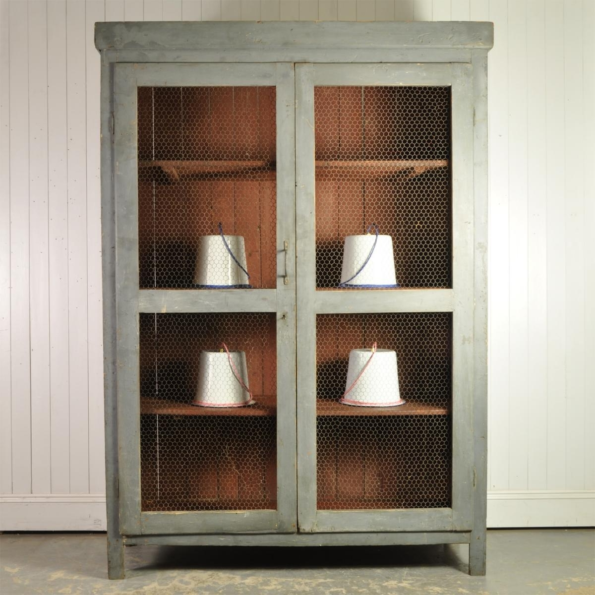 Large Italian Cupboard, 1920S For Sale At Pamono Throughout Best And Newest Large Cupboard With Shelves (View 6 of 15)