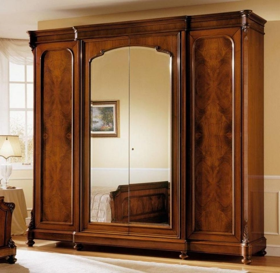 Large Wooden Wardrobes For Well Known Free Standing Wooden Wardrobe Closet Wood Home Depot Furniture (View 1 of 15)