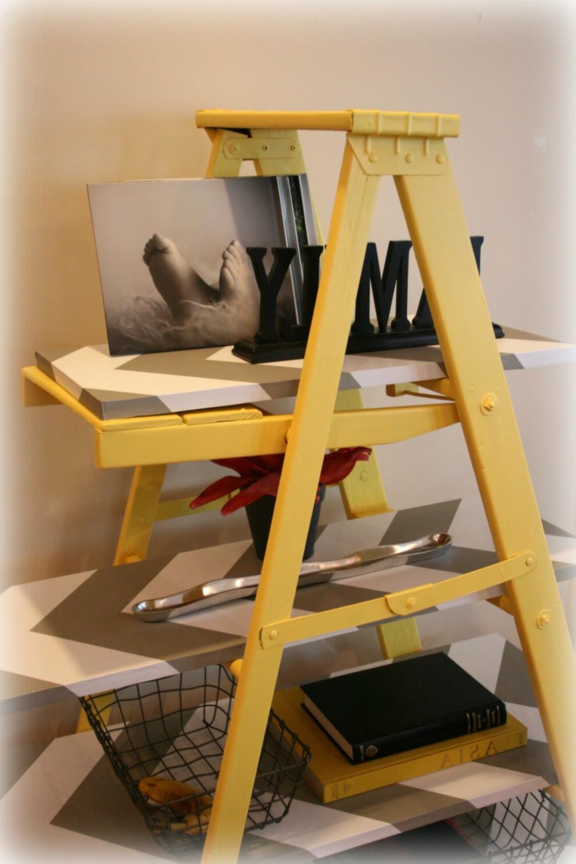 Latest 11 Leaning Ladder Shelf Ideas (Including 5 Handmade Versions) In Bookshelves Handmade (View 9 of 15)