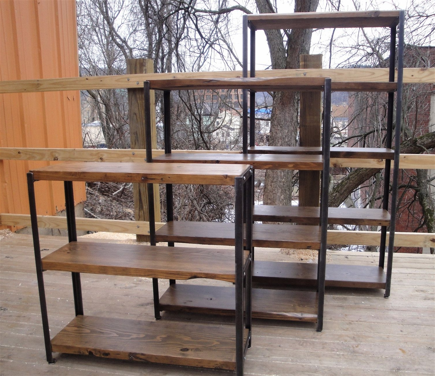 Latest Accessories & Furniture,reclaimed Metal And Wood Bookcase With Pertaining To Iron And Wood Bookcases (View 7 of 15)