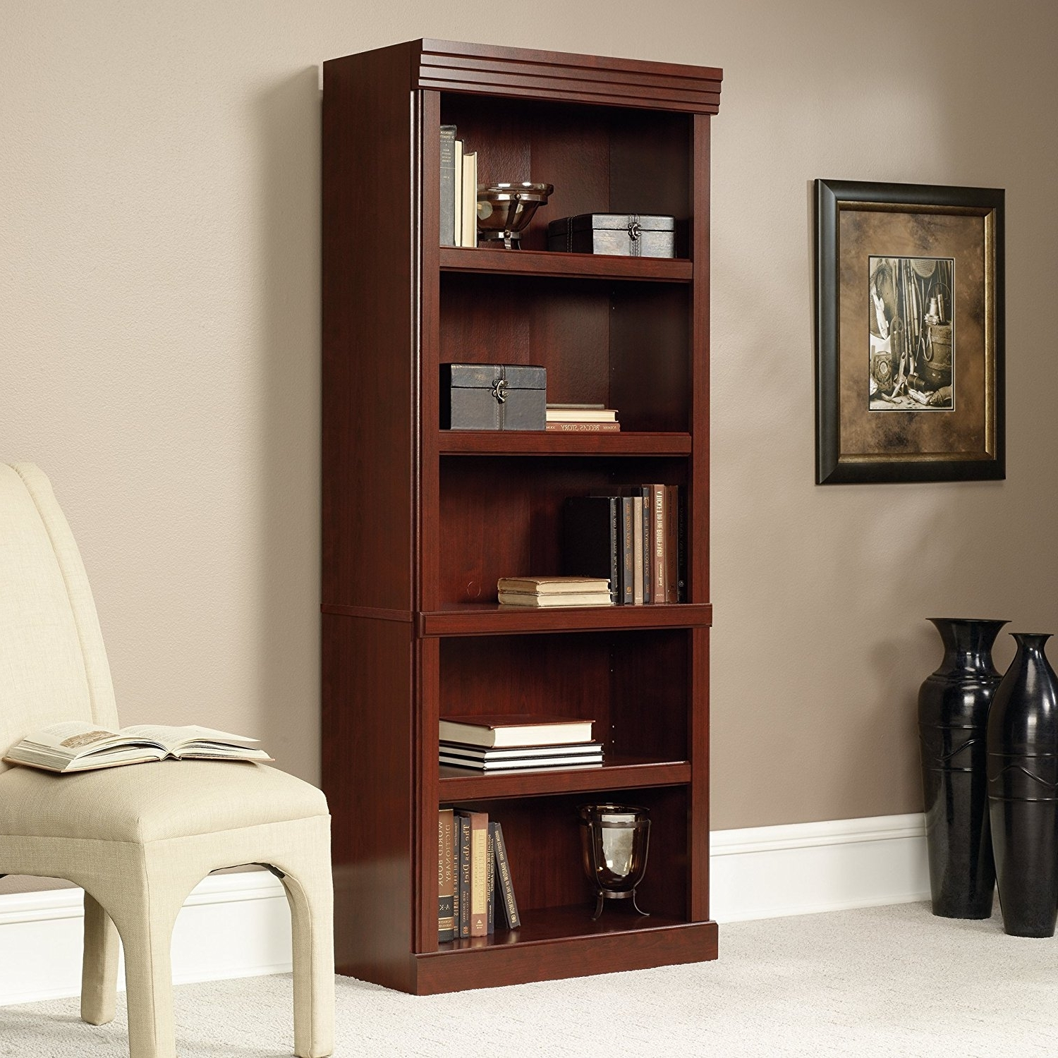 Latest Amazon: Sauder Heritage Hill Open Bookcase, Classic Cherry For Saunders Bookcases (View 5 of 15)