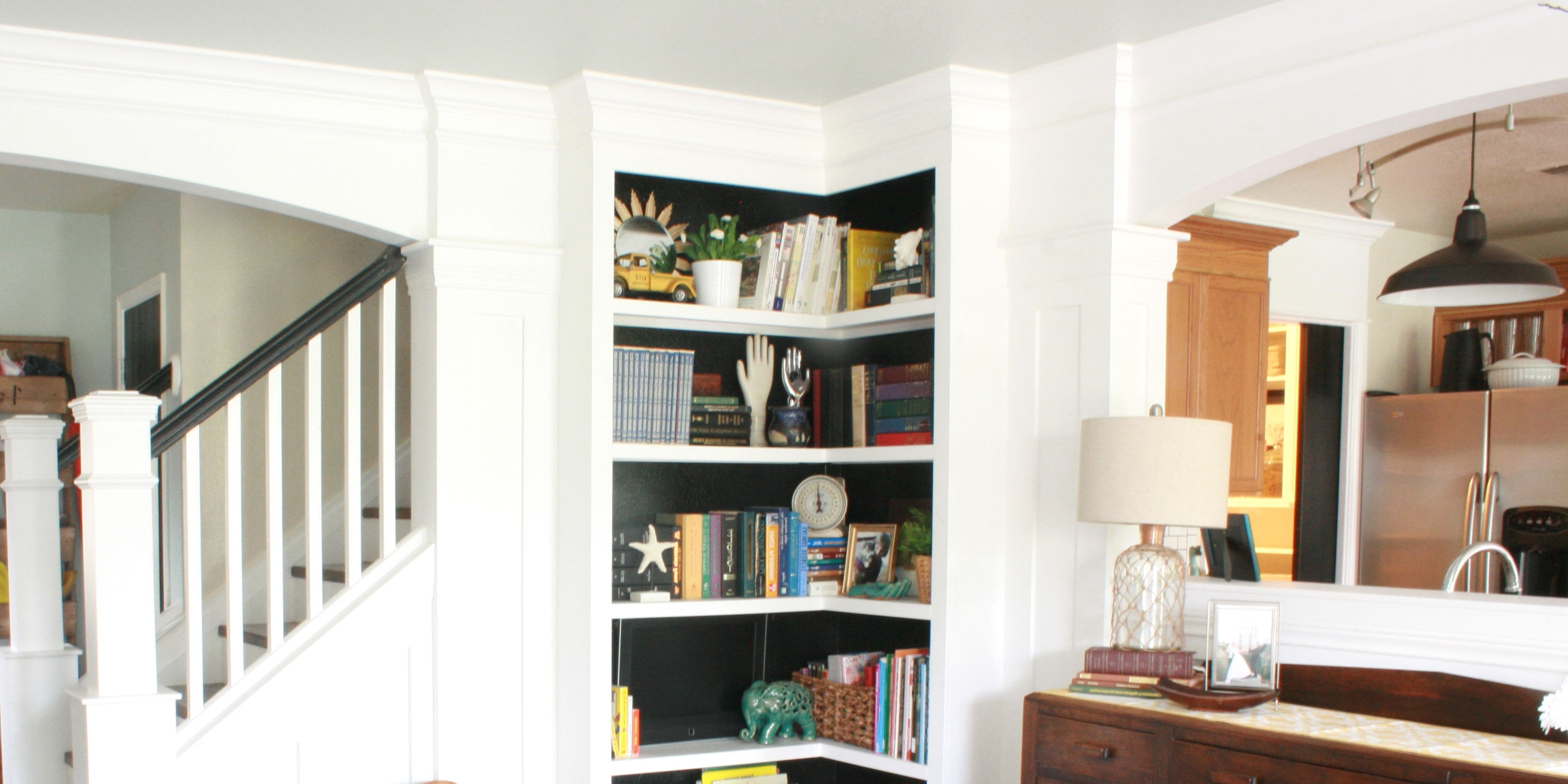 Latest Built In Bookcases Kits Throughout Build Your Own Corner Bookshelves (View 9 of 15)
