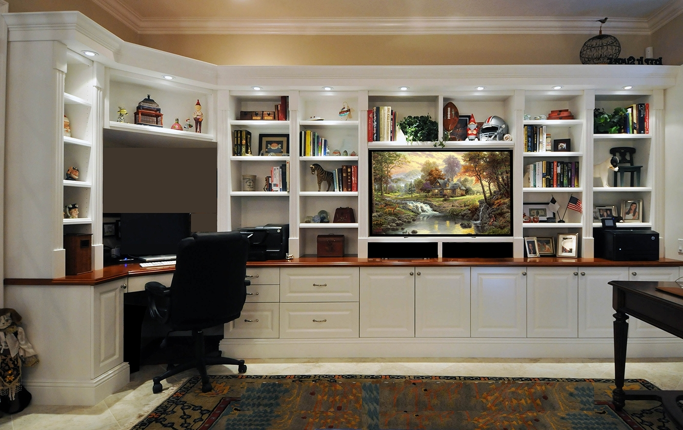 Latest Charming Wall Unit With Desk And Bookcases Desk Wall Unit Wall In Wall To Wall Bookcases (View 10 of 15)