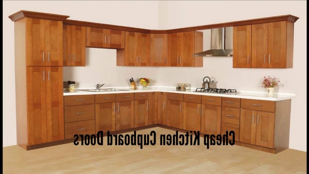 Latest Cheap Kitchen Cupboard Doors – Cheap Kitchen Cupboards – Youtube Throughout Cupboards (View 8 of 15)