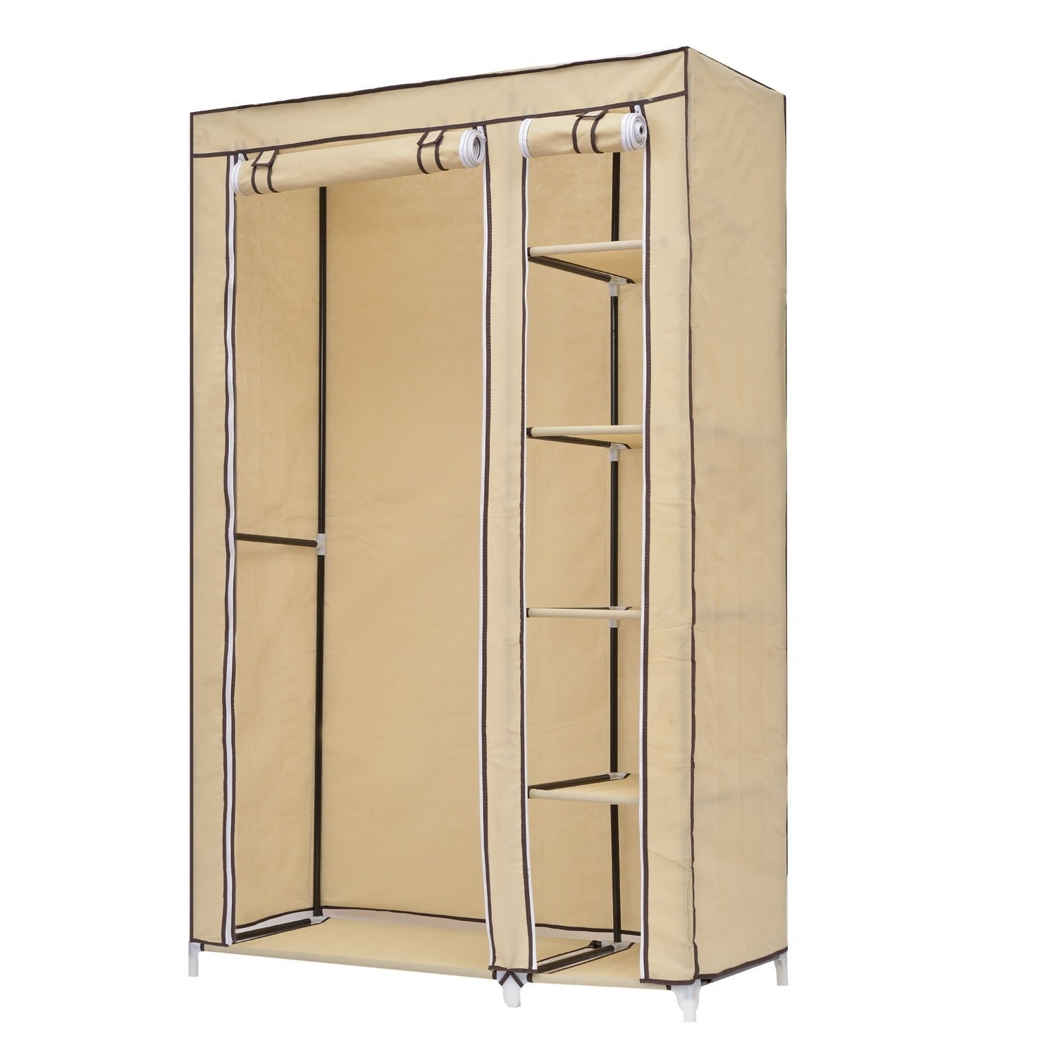 Latest Closet Storage : Portable Closet Walmart Walmart Wardrobe Wood Within Mobile Wardrobes Cabinets (View 5 of 15)